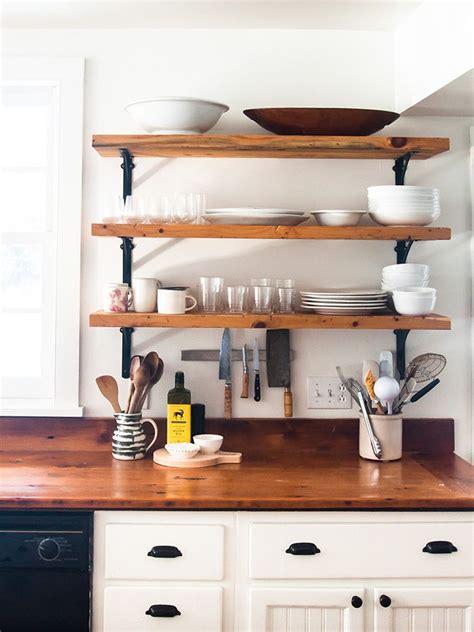 diy kitchen cabinets kitchen makeover open wooden shelves kitchen 3397