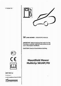 Mountfield Multiclip 501hp  Pd Operator U0026 39 S Manual Pdf