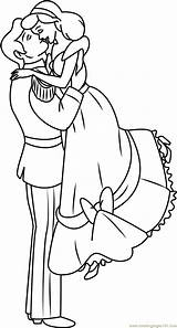 Coloring Couple Sweet Cartoon Couples Drawing Template Cinderella Coloringpages101 Templates Getdrawings sketch template