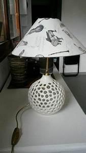Pied De Lampe Ceramique : lampe de chevet blanche nate lampe poser avec joli pied en c ramique ajour tr s tendance ~ Teatrodelosmanantiales.com Idées de Décoration