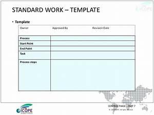 standard work templates standard work application template With standard work instructions excel template
