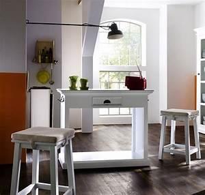 Tabouret De Bar Blanc Et Bois : table bar et tabourets bois blanc collection leirfjord ~ Nature-et-papiers.com Idées de Décoration