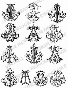 mini custom collection of vintage monograms compiled from With vintage monogram letters