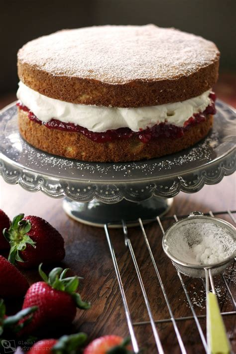 british victoria sponge cake global table adventure