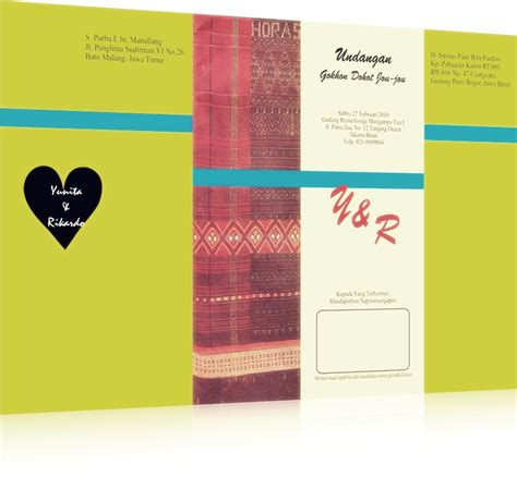 contoh cover undangan pernikahan bahasa inggris contoh