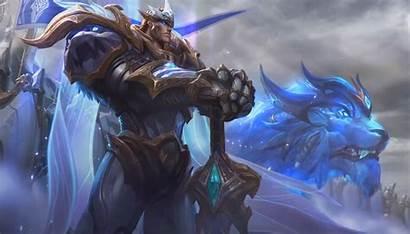 Garen God League Legends King Login Screen