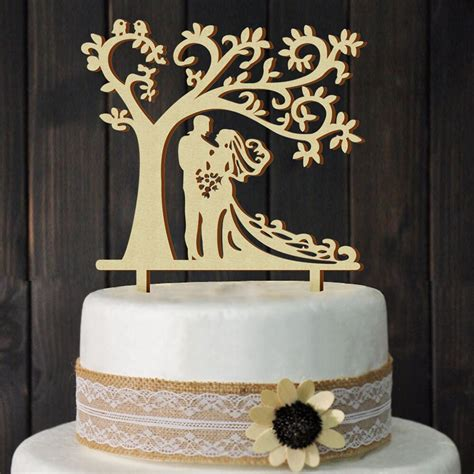 love wedding cake topper wooden supplies romantic bride