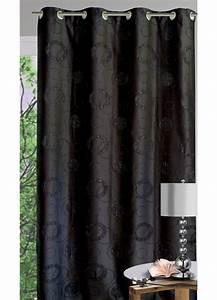 Rideau Fil Noir : rideau ameublement gros ronds et fils argent s noir blanc homemaison vente en ligne ~ Teatrodelosmanantiales.com Idées de Décoration