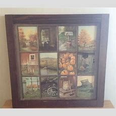 "Vintage ""home Interior"" Window Pane Picture  I Think"