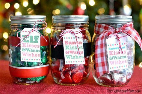 mason jar christmas gifts free printable tag