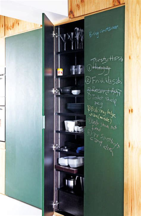 room   chalkboard feature wall