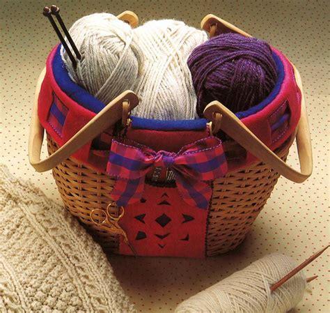 Cozy Knitting Basket Pattern   AllFreeSewing.com