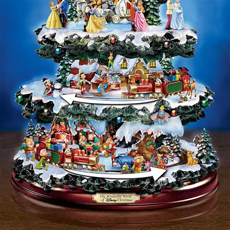 christmas tabletop musical rotating christmas tree decoration disney tabletop tree