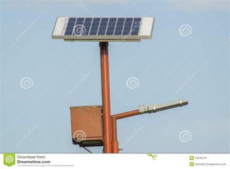 solar powered l post solar powered l post stock photo image 54246116