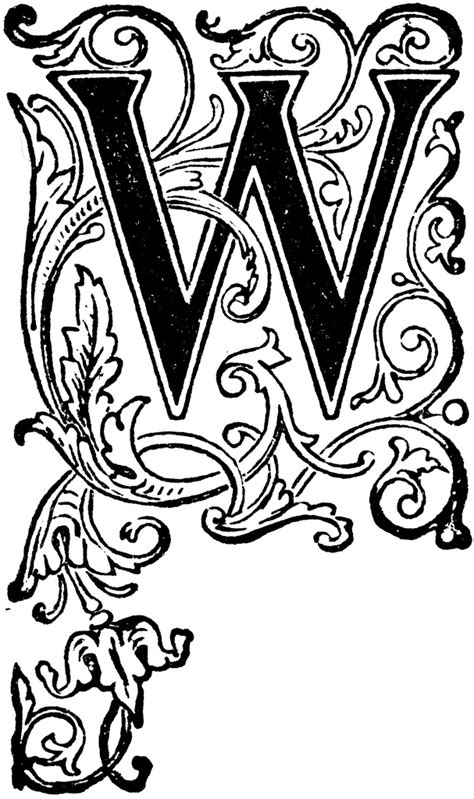 floral capital  tattoo lettering illuminated letters