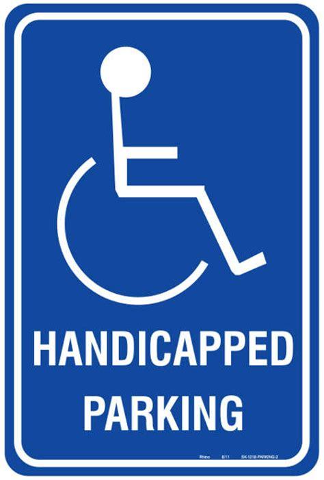 printable handicap parking sign clip art library