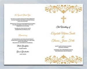 bi fold wedding program half fold church program template search engine at