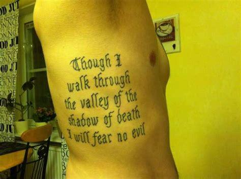 Though I Walk Through Valley Death Tattoo