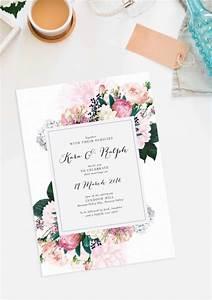 pretty protea wedding invitations vintage botanical With wedding invitation design brisbane