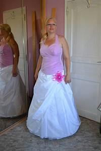 robe mariee blanche et rose le mariage With robe de mariée rose et blanche