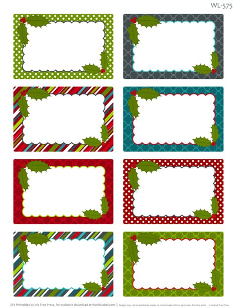 printable christmas labels  homemade baking worldlabel blog