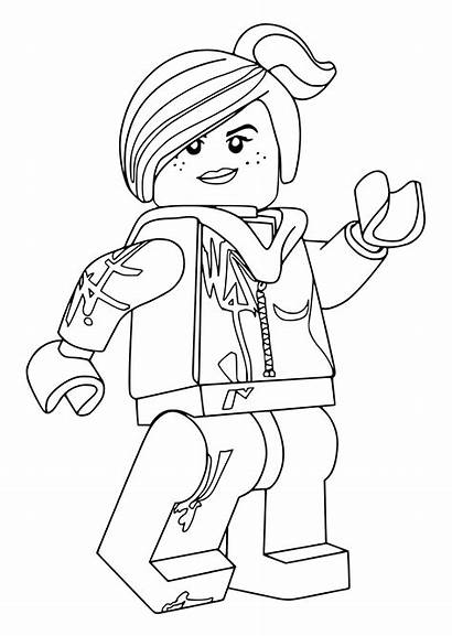 Lego Coloring Pages Wyldstyle Lucy Sheets Emmet