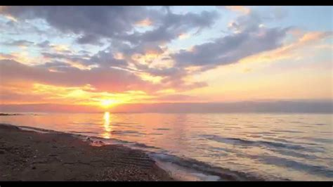 Dead Sea Time Lapse Sunset In 4k Youtube