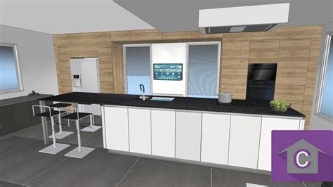 cuisine noir laqué plan de travail bois cuisine leicht et lineaquattro