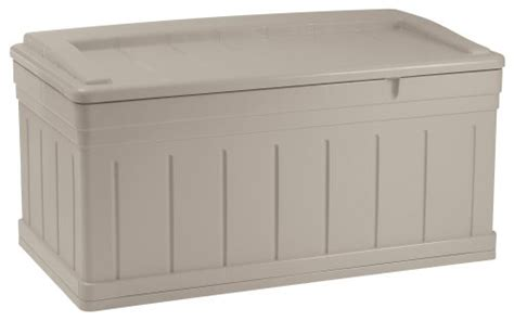 Suncast Small Deck Box Assembly by Suncast Db9750 Extended Deck Box Seat Deck Boxes