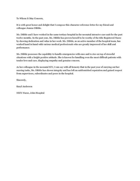personal reference letter ideas  pinterest