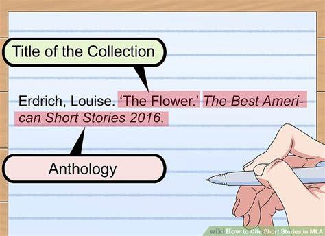 ways  cite short stories  mla wikihow