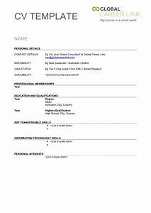 Resume Cover Free Blank Resume Outline Download Blank