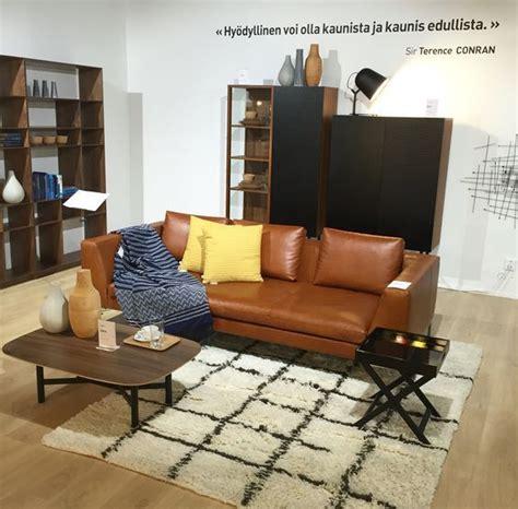 ihana konjakin värinen vintagenahkainen montino sofa