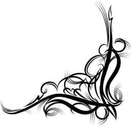 Fancy Corner Scroll Clip Art
