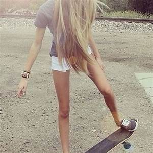 long straight blonde hair #skate | Hair