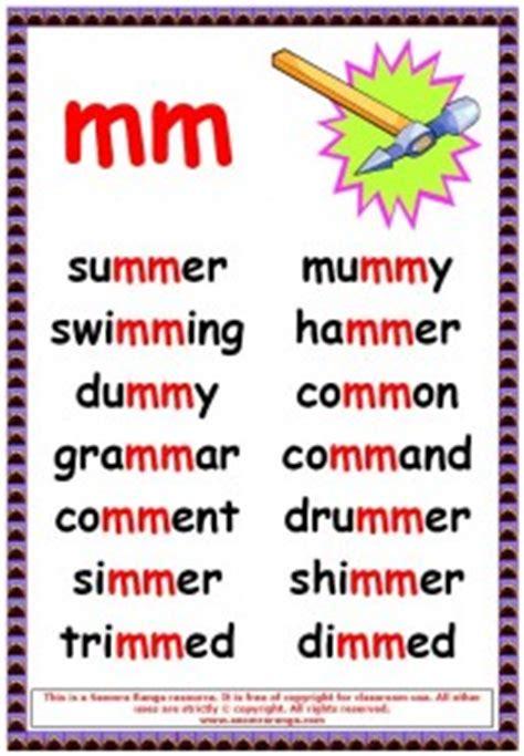phonics poster mm words seomra ranga