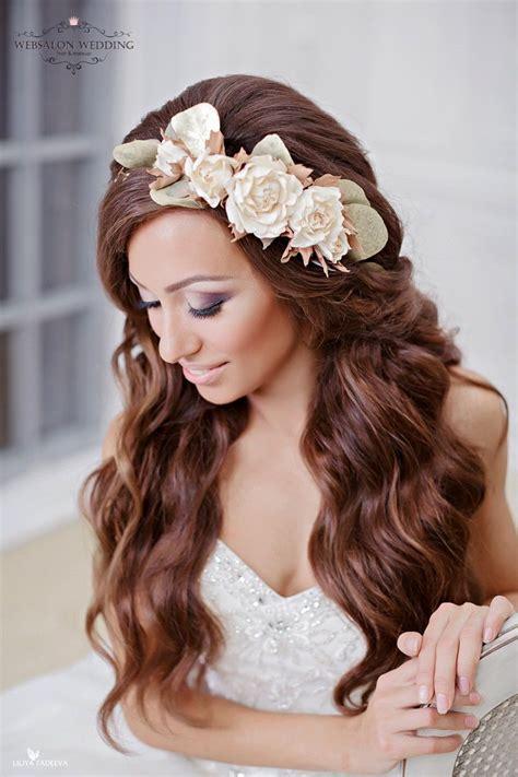 beautiful hair  wedding hairstyle  romantic brides