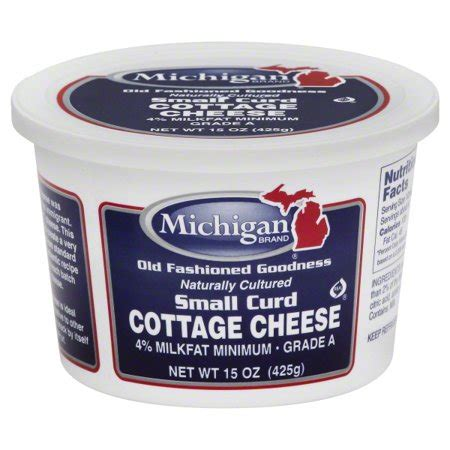 Cottage Cheese Brands Michigan Brand 4 Milkfat Small Curd Cottage Cheese 15 Oz