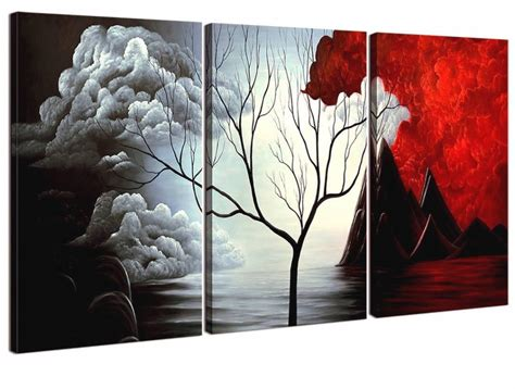 Home Decor Paintings 3 Panel Classic Paris Oil Painting On: 20 Best Ideas Of Abstract Modern Home Paintings
