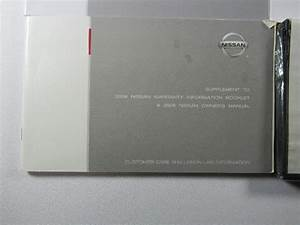 2008 Nissan Altima Owners Manual Book