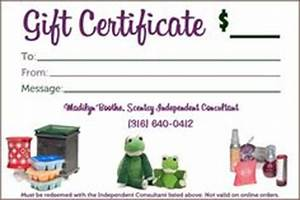 1000 images about scentsy gift certificates on pinterest With scentsy gift certificate template