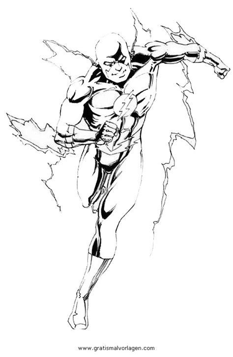 flash  gratis malvorlage  comic trickfilmfiguren flash ausmalen
