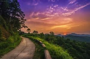 Road, Sunset, Sky, Nature, Landscape, Clouds, Sunlight, Wallpapers, Hd, Desktop, And, Mobile