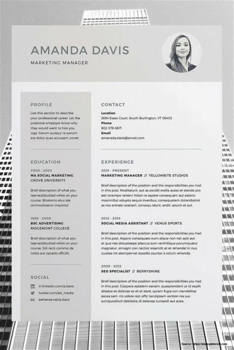 Free Resume Template For Word by Free Editable Resume Templates 2015 Resume Resume