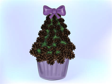 how to make a mini pinecone christmas tree 14 steps