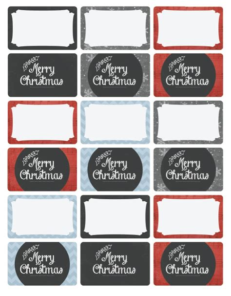 merry christmas holiday labels  catherine auger