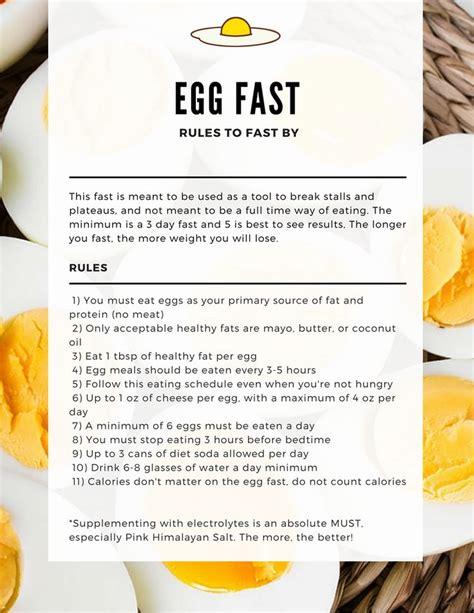 keto friendly egg fast rules  success egg fast egg