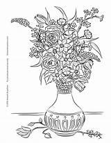 Coloring Still Vase Flowers Cezanne Printable Designlooter Drawings Template Getcolorings sketch template