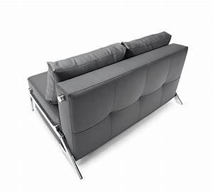 cubed deluxe sofa bed full size black leather textile by With cubed deluxe sofa bed