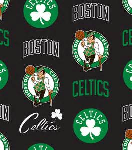 jo fabric and crafts licensed nba fleece fabric boston celtics toss jo